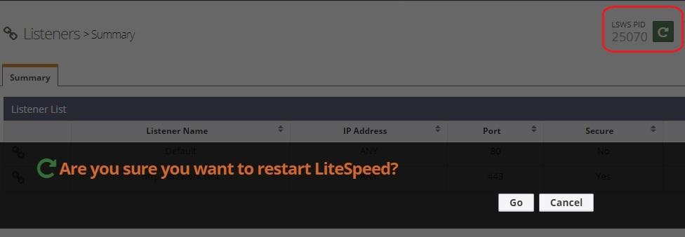 LiteSpeed-Restart