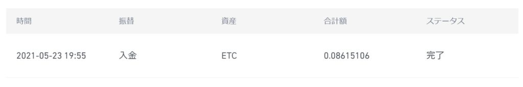 ETC初入金