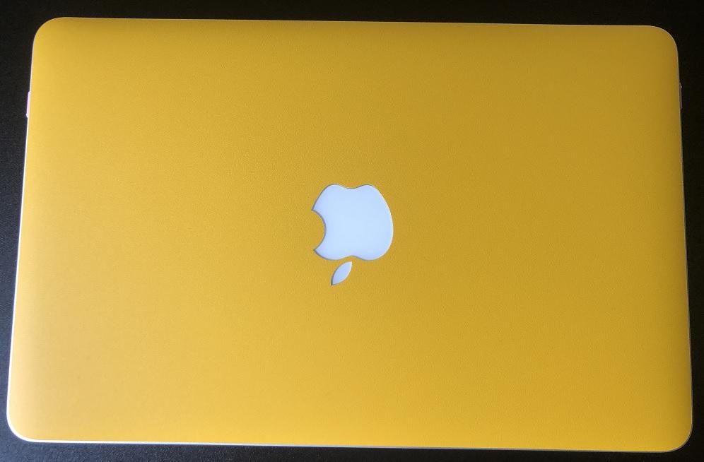 MacBookAirイエロー表